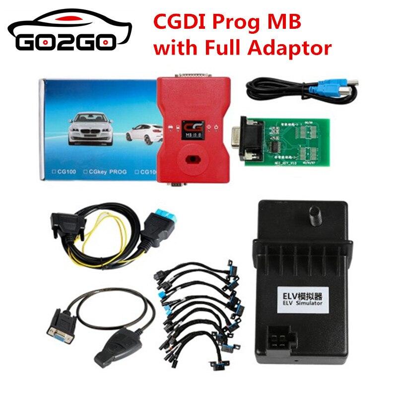 Venda Hot Venda quente 2018 CGDI Prog MB Benz Programador Chave Suporte Todos Chave Perdida com Adaptadores Completas para ELV reparação