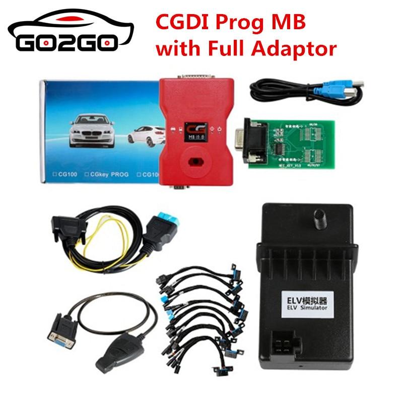Vendita Calda di Vendita Calda 2018 CGDI Prog MB Benz Chiave Programmatore Supporto Tutta la Chiave Persa con il Pieno di SIM Card e Adattatori per ELV di riparazione