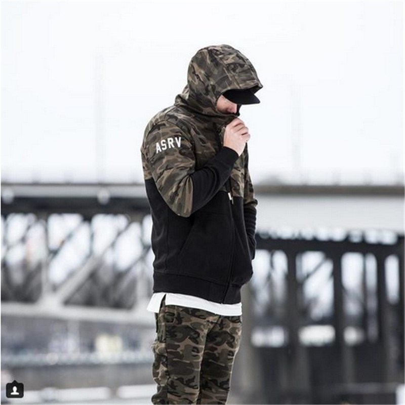 Mens Sets 2018 Gyms Mens wear suits for autumn and winter camouflage fitness of the clothing military green 1 s
