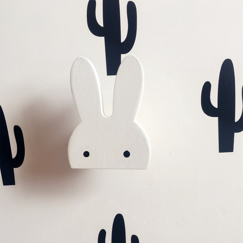 Ins cute bunny wall hook for kids room decoration rabbit for Kids room hooks