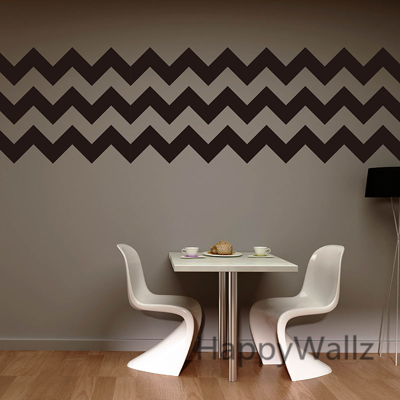DIY Chevron Stripes Wall Stickers Decorative Chevron Wall ...