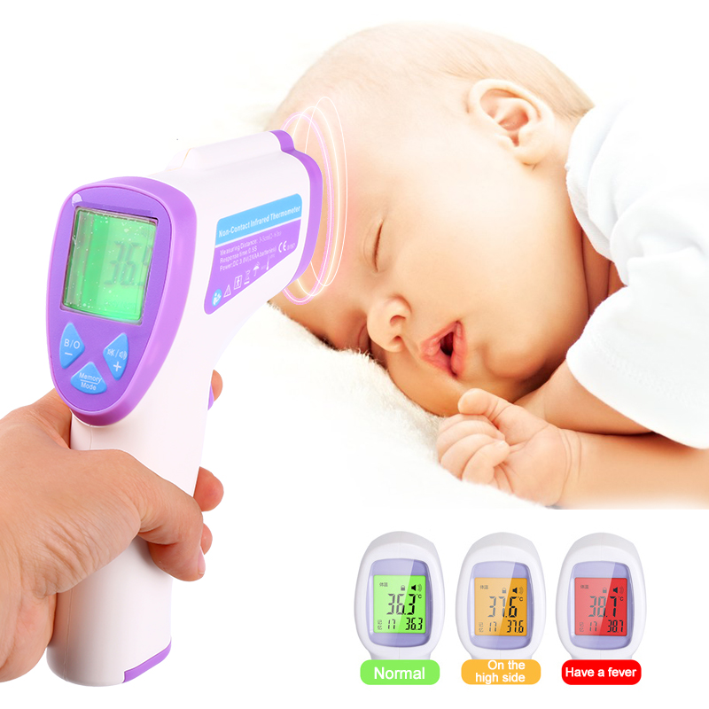 Digital Baby Thermometre Multi Function Non contact Infrared Body Thermometer Gun Forehead Termometre zl163