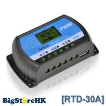 PWM 30A Pantalla LCD Solar Charge Controller 12 V 24 V USB 5 V de Carga Del Panel Solar Regulador RTD-30A Y-Solar