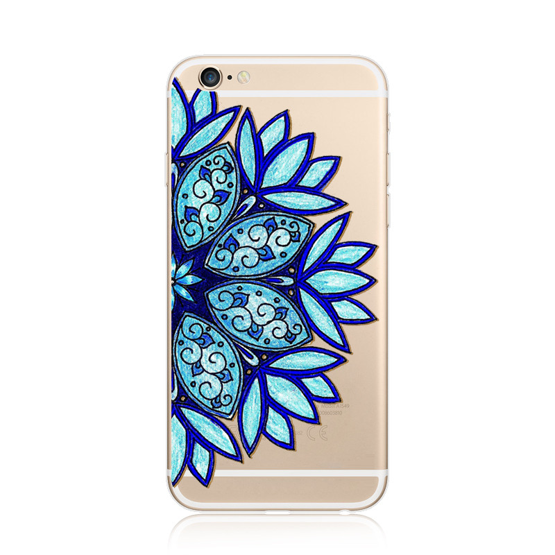 best service eb817 73371 US $92.0 |IMIDO 5C Fashion Mandala Mobile Phone Case 6s Cell Phone TPU  Cover For iPhone 8 Plus Stylish Couple Cases For iPhone X-in Half-wrapped  Case ...