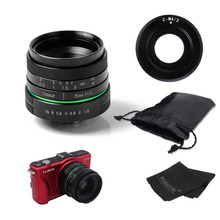 New green circle 35mm APS-C CCTV camera lens for  For Olympus&Panasonic M4/3 Camera with c-m4/3 adapter ring +case + gift