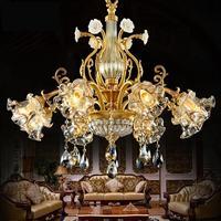 Американские роскошные элегантные хрустальные, светодиодные, в форме свечек, Светильники для отеля, Современная гостиная, светлая старинна