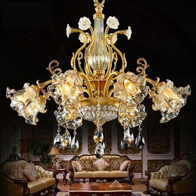 American Luxury Elegant crystal chandeliers led lights for hotel  contemporary living room light antique bronze chandelier - American Luxury Elegant Crystal Chandeliers Led Lights For Hotel