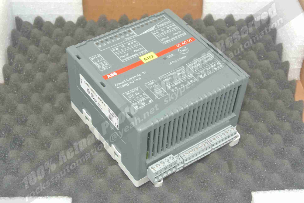 Advant Controller 31 Analog I/O Unit 07 AC 91/GJR5252300R010107AC91I2 Used Good In Condition With Free DHL / EMS dhl ems 5 lots om ron s3s a10 us s3sa10us controller unit c a1