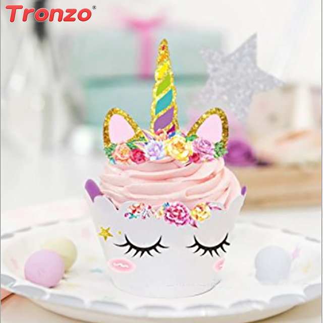 Tronzo Unicorn Party Cake Topper Wrappers Unicorn Birthday Party