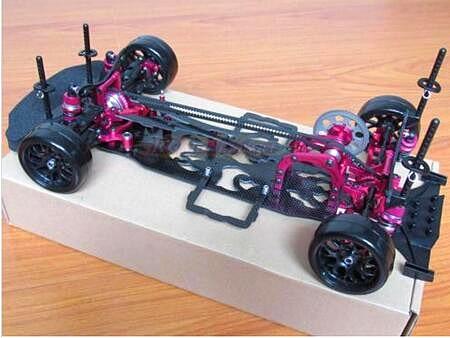 1/10 Alloy & Carbon SAKURA D4 AWD EP Drift Racing Car Frame Body Kit #KIT-D4AWD 1 10 scale rc drift frame kit 4wd 646801r1 rc body drift racing car