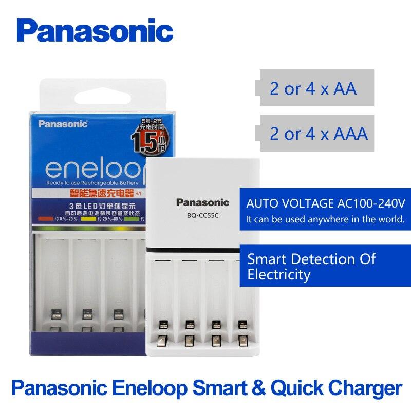Panasonic Original Top Qualität Schnelle Ladegerät Für AA/AAA Akku Kann Misch Ladung AC100V ~ 240 V eneloop