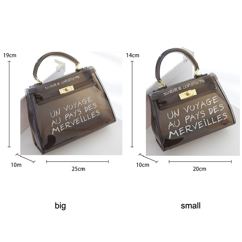 Clear Transparent PVC Women Shoulder Bag Candy Color Jelly Bags Purse Solid Color Handbags Sac A Main Femme Crossbody Bag Women in Shoulder Bags from Luggage Bags