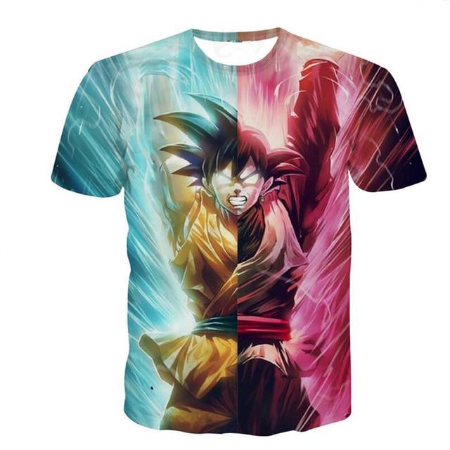Classic Anime Dragon Ball Z T-shirt Super Saiyan 3d T Shirt Tees Animation Cool Vegeta Hip Hop Men/Women Tee Shirts Tops R2308