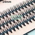 Comercio al por mayor 4 packs/lot Pro 57 Nudos 20 Pelos Negro Individual Kit de Extensión de Pestañas falsas Pestañas Maquillaje 8mm 10mm 12mm 14mm