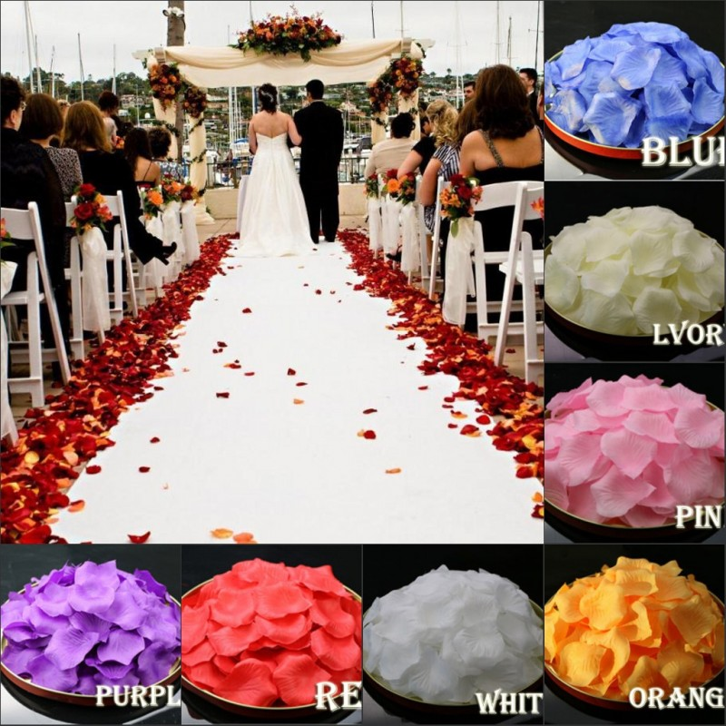 Multi color rose petals wedding accessories petalas for Multi colored rose petals