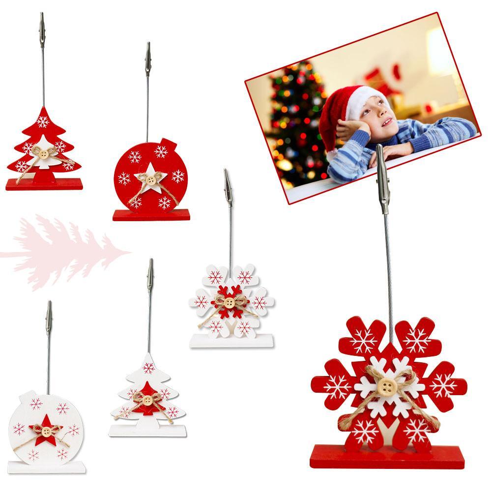 Christmas Business Decorations.Us 1 04 30 Off Christmas Decorations Innovative Christmas Decoration Wooden Business Card Holder Photo Folder Desktop Photo Decoration In Pendant