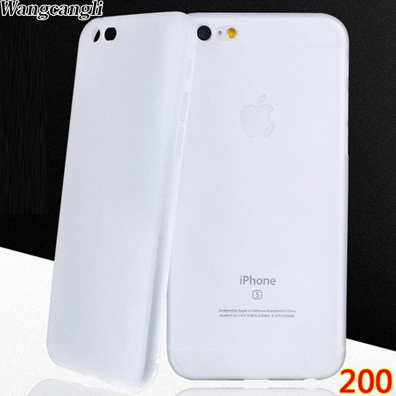 imágenes para 200 unidades de Ultra delgada para el iphone 7 de lujo para el iphone 6 caso mate suave caso de la cubierta del sobre para el iphone 6 s Cáscara Piel accesorios