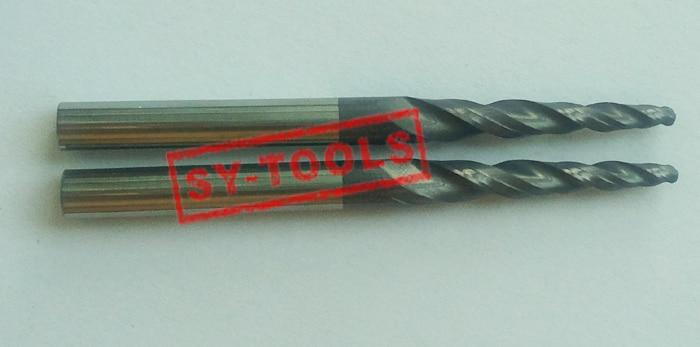 2 PZ R1.5 * D6 * 30.5 * 75L * 2F HRC55 Frese in metallo duro conica - Macchine utensili e accessori - Fotografia 3