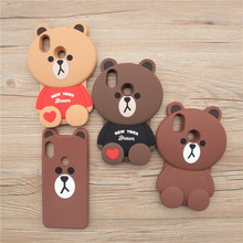 3D Cute Cartoon Loving Bear Phone Case for Xiaomi Redmi Note 5 Soft Silicone Back Cover Coque Fundas for Redmi Note 5 Pro Prime