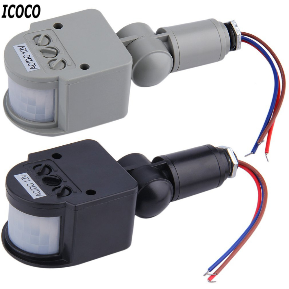 Icoco 1pc Automatic Pir Infrared Motion Sensor Detector