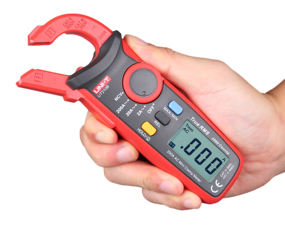 Uni t UT210A Digital grampo multimetro Tester AC 200A corrente Auto in Multimeters from Tools