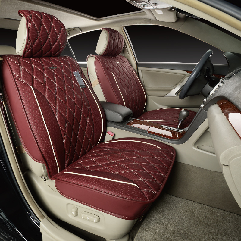2front High Quality Car Seat Cover Luxury Leather