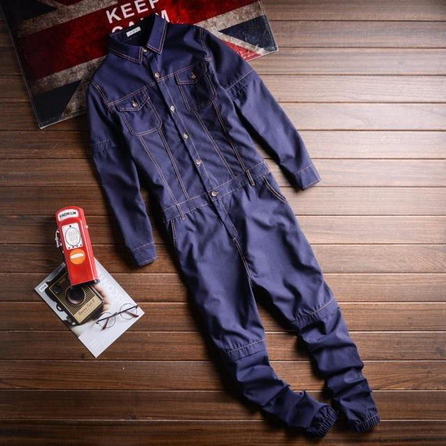 Sokotoo Men's linen detachable sleeve short jumpsuits Joggers Two way overalls Black Purple 3