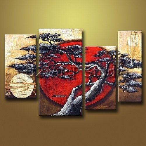 Abstract Group oil painting modern art landscape handmade painting for decoration YX-GP04