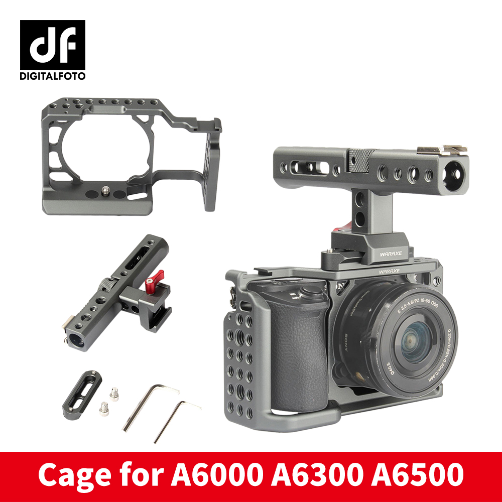 DIGITALFOTO WARAXE A6 Kit Camera Cage for Sony A6000 A6300 A6500 ILCE-6000 / ILCE-6300 / ILCE-A6500 with Rail Handle Grip цены онлайн