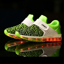Children Glowing Sneakers Fashion Sport Led Usb Luminous Lighted  Boys Girls  Shoes for Kids Running Shoes Casual Flats
