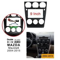 9 inch 2din car radio Fascia for Mazda 6 2004 2015 Stereo Panel Dash Mount Installation Double Din frame CD DVD GPS Bezel frame