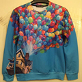 2016 NEW Menb/boy Many colorful balloons print Pullover funny 3D Sweatshirts Hoodies jacket Galaxy hoodies Tops