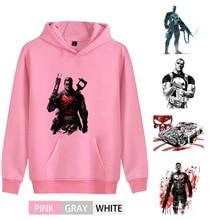Marvel Avengers Punisher Cartoon Fashion Cotton  Men/women Hoodie sweatshirts Kangaroo Pocket leisure Activewear A193291