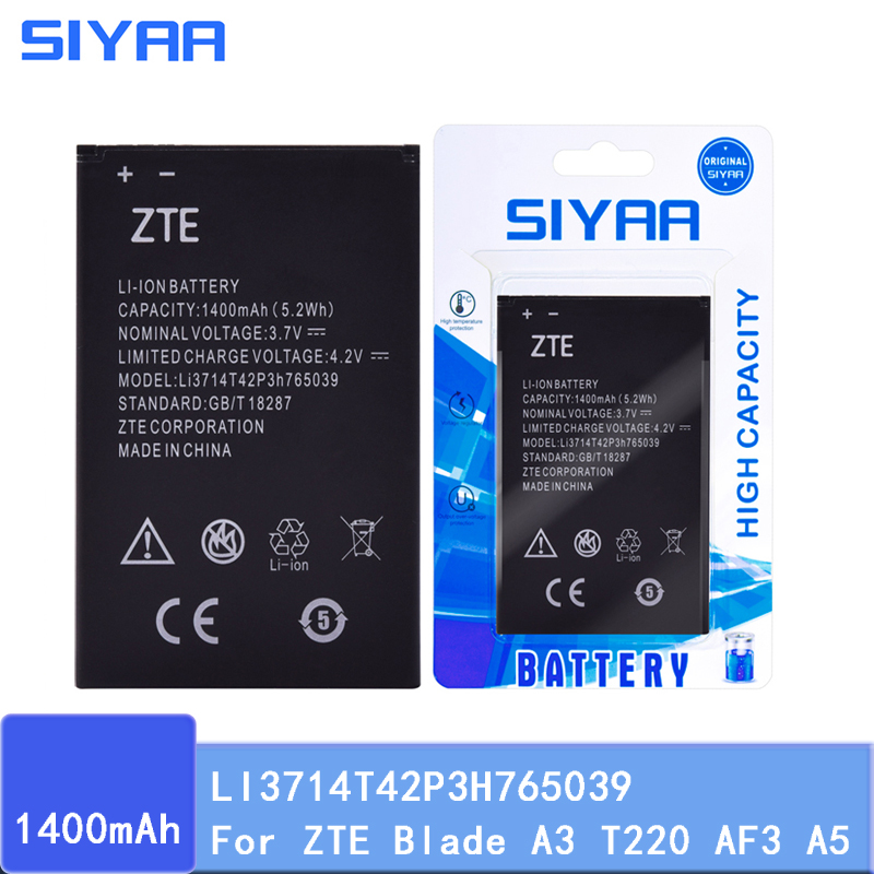SIYAA Battery High-Replacement Original For ZTE Blade A3 T220/Af3/T221/.. Real-Capacity