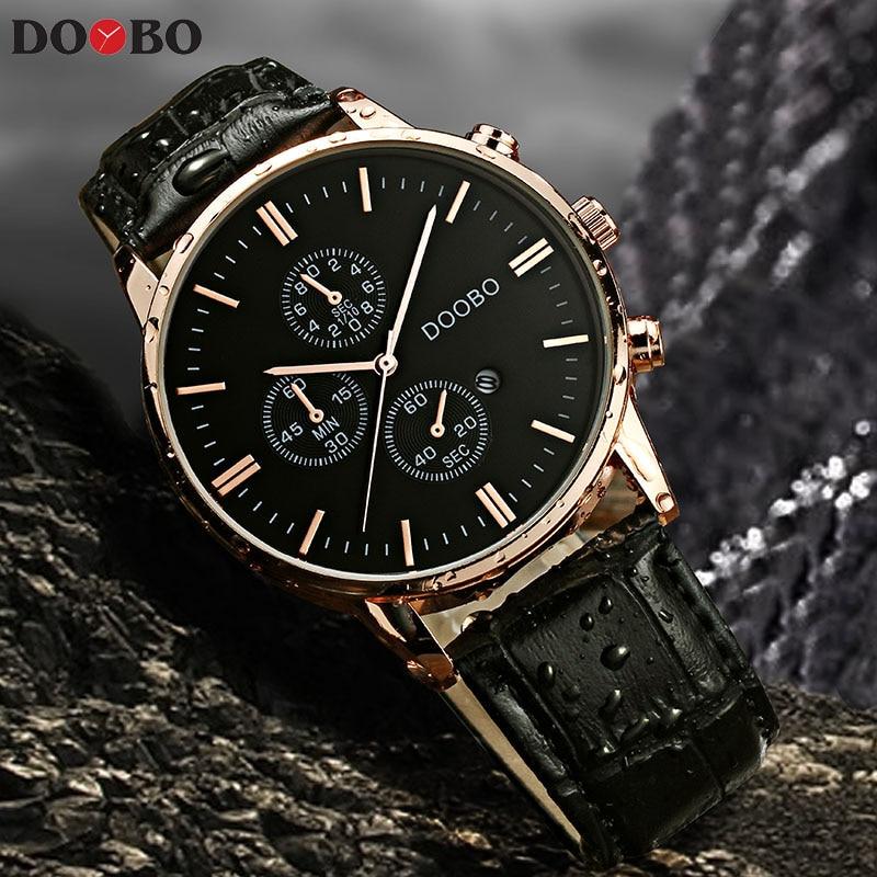 Top marca de lujo reloj de cuarzo correa de cuero ocasional de los hombres reloj masculino reloj deportivo Relogio Masculino