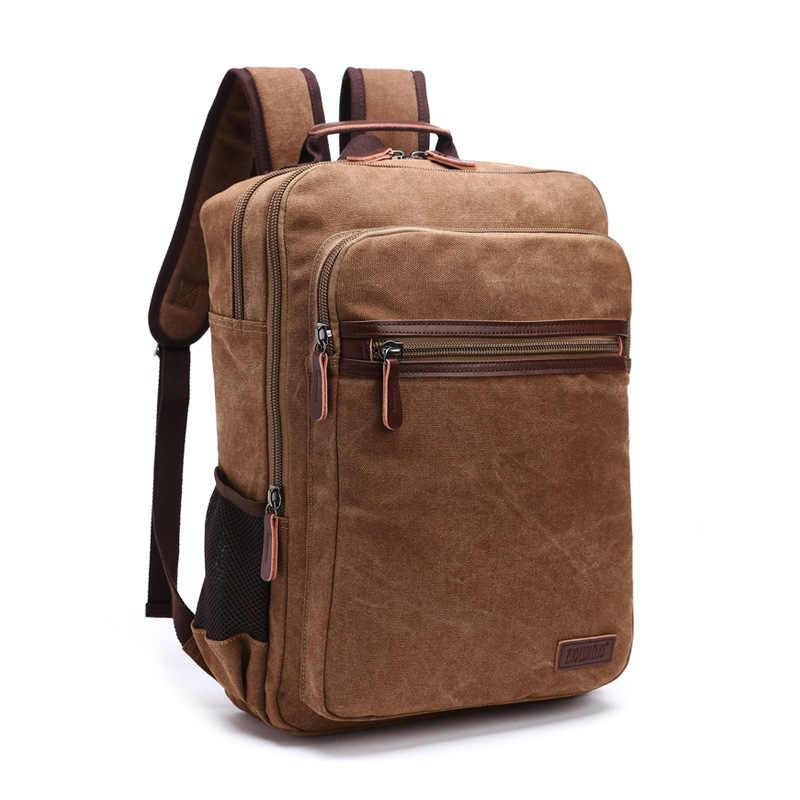 DB75 موضة جديدة حزام الكتف سستة الصلبة حقيبة عادية حقيبة ظهر مدرسية حقيبة قماش قنب مصمم حقائب الكمبيوتر المحمول للرجال