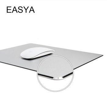 EASYA алюминиевый сплав коврик для мыши металлический игровой коврик для мыши креативный водостойкий серебристый с 3 размерами для офисной ра...