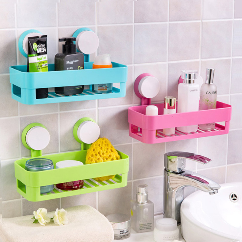 Multipurpose Double Suction Cup Corner Tub Holder Bathroom Shelf for ...