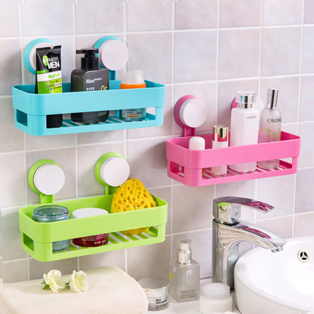 Multipurpose Double Suction Cup Corner Tub Holder Bathroom Shelf For Bathroom  Wall Shelf Storage Rack Kitchen