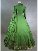 Зеленый Классический готический викторианской платье eBay викторианской платье