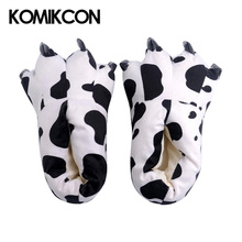 Animal Dinosaur Claws Slippers Family Matching shoes Funny Cartoon Giraffe Winter Warm Soft Coral fluffy Floor Shoes Kids Adults
