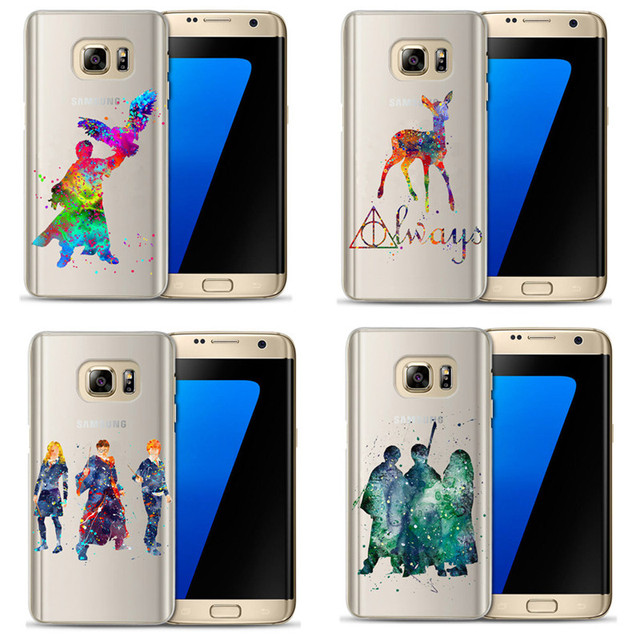 check out bc445 b2896 US $1.94 30% OFF|Harry Potter Case For Coque Samsung Galaxy S6 S7 Edge S8  S9 Plus Watercolor Art Harry Potter Magic Birds Deer Soft TPU Case-in  Fitted ...