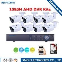 SOCOTECH 1280*1080 P HD Al Aire Libre Sistema de Cámaras de Seguridad 1080 P HDMI CCTV Video Vigilancia DVR Kit 8CH AHD Conjunto de cámara