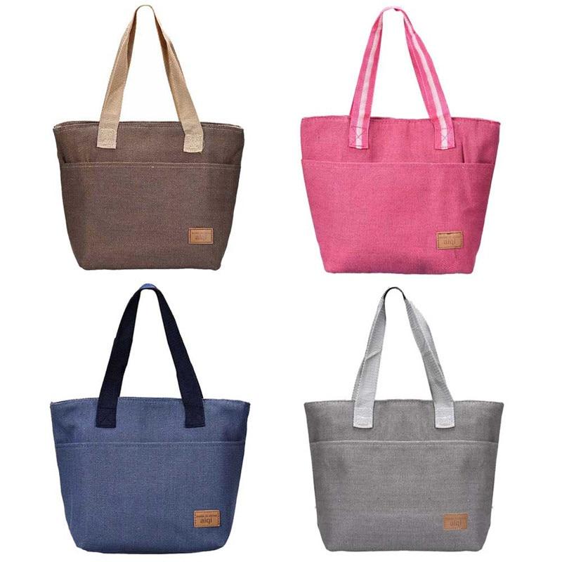 font b lunch b font tote for woman Fashion canvas font b bags b font