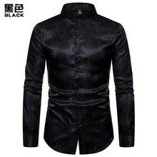 Европейский код), осень, модная Мужская Новая высококачественная рубашка с длинными рукавами и воротником в виде цветов кешью, модные вечерние рубашки