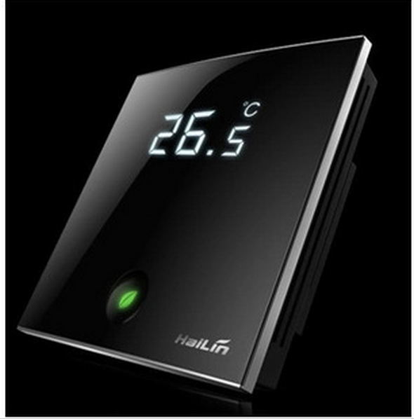 HL2028DB2 wifi tactile-écran LCD thermostat pour 2 tuyau ventilateur bobine unités et 3 fil vanne commandée par Android et IOS téléphones