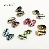 100pcs/lot Mix Multi Color Natural Puka Cowrie Shell Loose Beads for Jewelry Making DIY Charm Pendant Accessories Wholesale
