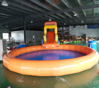 PVC Inflatable Water Slide Pool Jumping Bouncer Castle With Air Blower for children