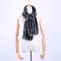 発売中の新しい本物のリアルrexウサギの毛皮のハンドニット女性の冬のスカーフラップスカーフウール混紡ショールソフト暖かいふわふわ