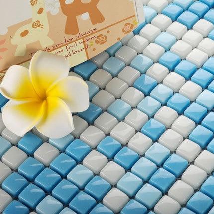 Wallpapers Romantic Mediterranean Blue White Fullbody Glazed Glass Mosaic Tiles For Shop Bar Bathroom Pool Floor Tile,yy-241 Diy Wall Decor Tile Hot Sale 50-70% OFF Home Improvement